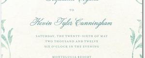 Authentic Vintage Style Wedding Invitations