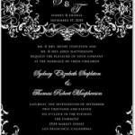 Basic Black and White Wedding Invitationsnvitations Vintage Vines : Chambord