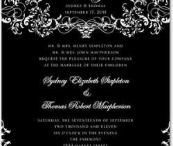 Basic Black and White Wedding Invitations