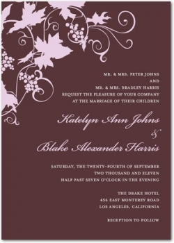 Wine Wedding Invitations