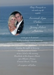 Ocean Love Photo Wedding Invitations