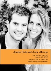 Autumn Orange Photo Save the Date Custom Invites