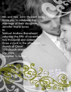 Swirly Your Photo Wedding Invitation