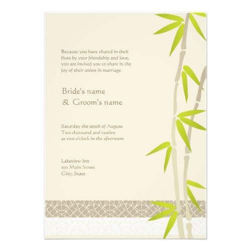 Eco Chic Eco-Friendly Wedding Invitations