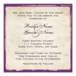 Elegant Purple Wedding Invitation