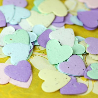 Plantable Heart Shaped Confetti