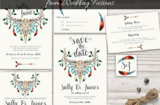 Beautiful Printable Wedding Sets from Wedding Fusions