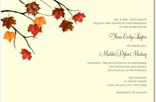 Brown Earth Tones Autumn Wedding Invitations