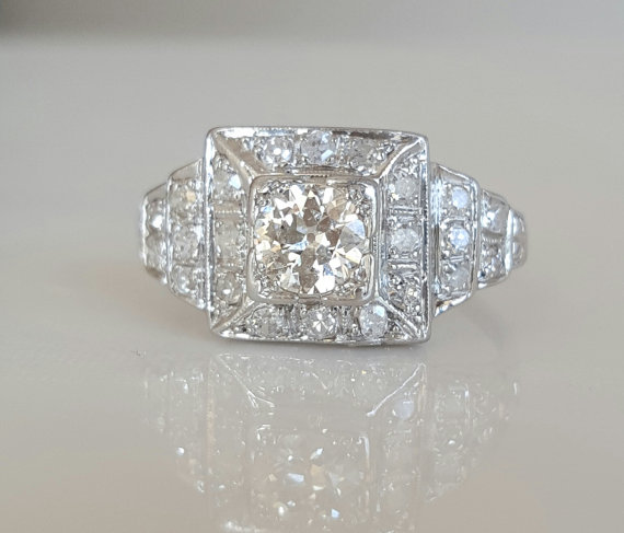 1920's Platinum Engagement Rings