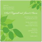 Natural Green Wedding Invitations