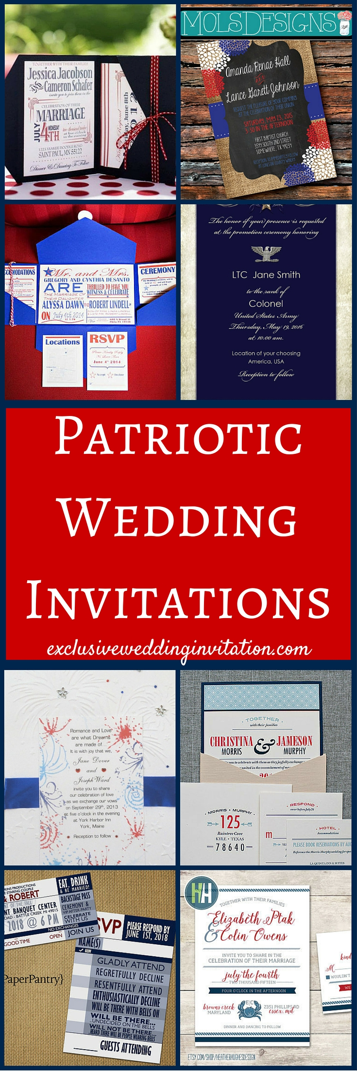 Patriotic Wedding Invitations