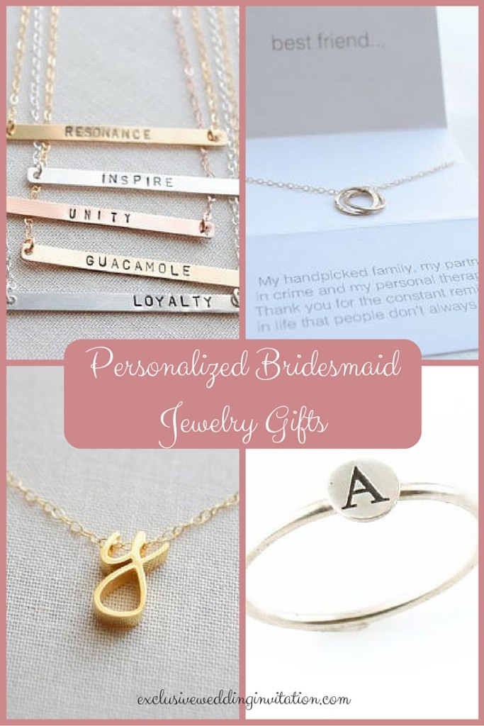 Personalized Bridesmaid Jewelry Gifts