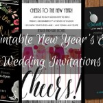 Printable New Year's Eve Wedding Invitations
