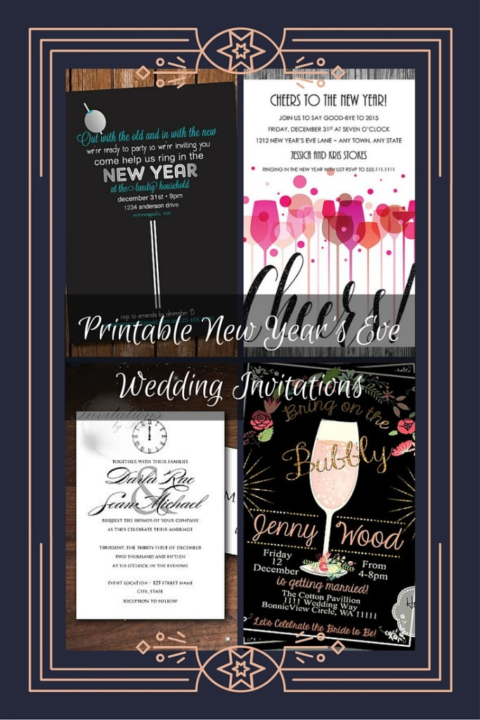Printable New Years Eve Wedding Invitations