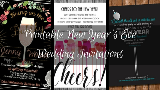 printable new year s eve wedding invitations