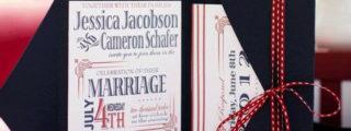 Patriotic Wedding Invitations