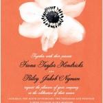 Red Orange Wedding Invitations