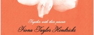Red Orange Tangerine Wedding Invitations