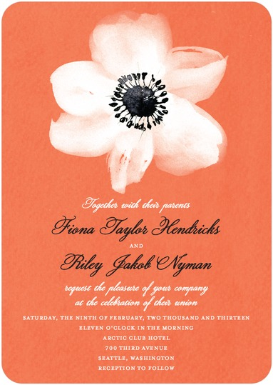 Red Orange Wedding Invitations