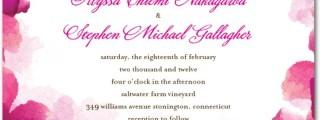 Vivid Blooms Wedding Invitations Fuchsia