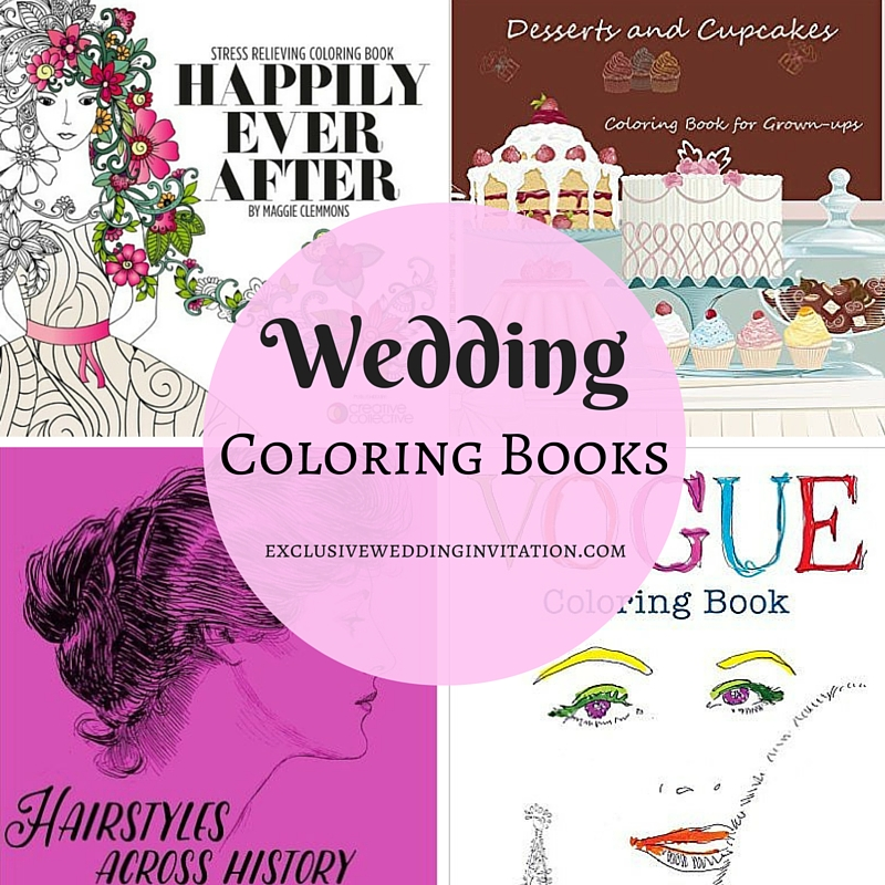 Wedding Coloring Books