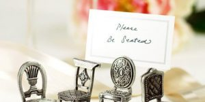 Victorian Pewter Antique Chair Place Card Holders