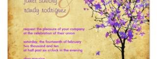 Lavender Purple Wedding Invitations