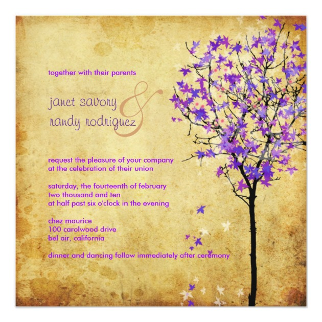 Lavender Purple Wedding Invitations