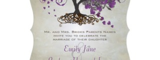 Natural Tree Wedding Invitations