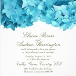 BlueHyd Hydrangea Wedding Invitations