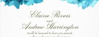 BlueHyd Hydrangea Wedding Invitations