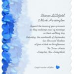 Blue, Teal, Aqua Wedding Invitations